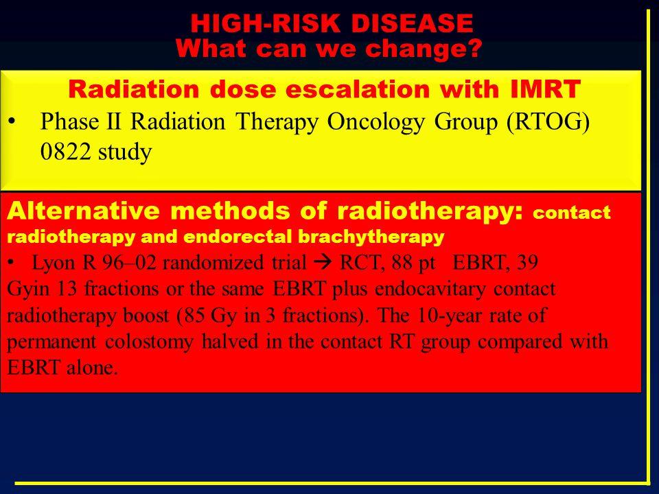 Radiation dose escalation with IMRT