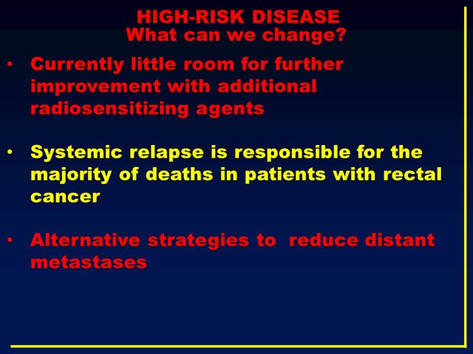 Alternative strategies to reduce distant metastases