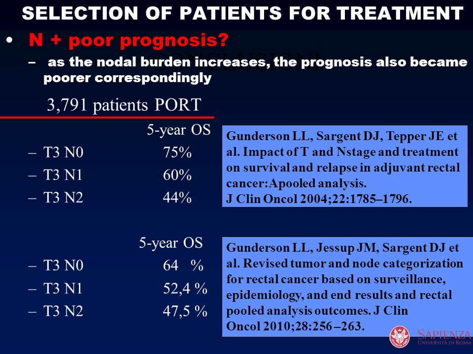 SELECTION OF PATIENTS FOR TREATMENT