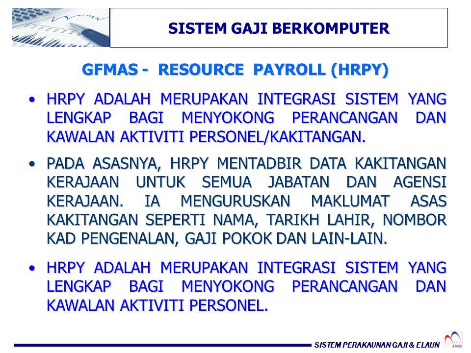 SISTEM GAJI BERKOMPUTER GFMAS - RESOURCE PAYROLL (HRPY)
