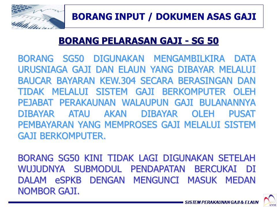 BORANG INPUT / DOKUMEN ASAS GAJI BORANG PELARASAN GAJI - SG 50