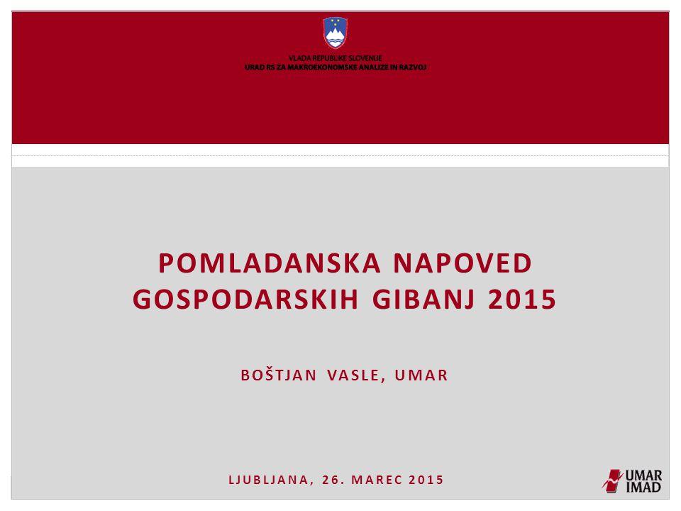 Pomladanska napoved gospodarskih gibanj 2015