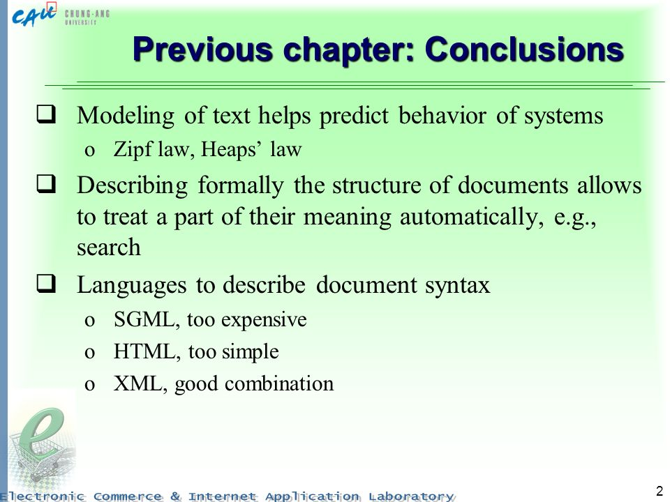 Previous chapter: Conclusions