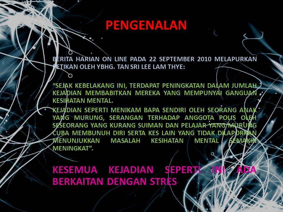 PENGENALAN BERITA HARIAN ON LINE PADA 22 SEPTEMBER 2010 MELAPURKAN PETIKAN OLEH YBHG. TAN SRI LEE LAM THYE: