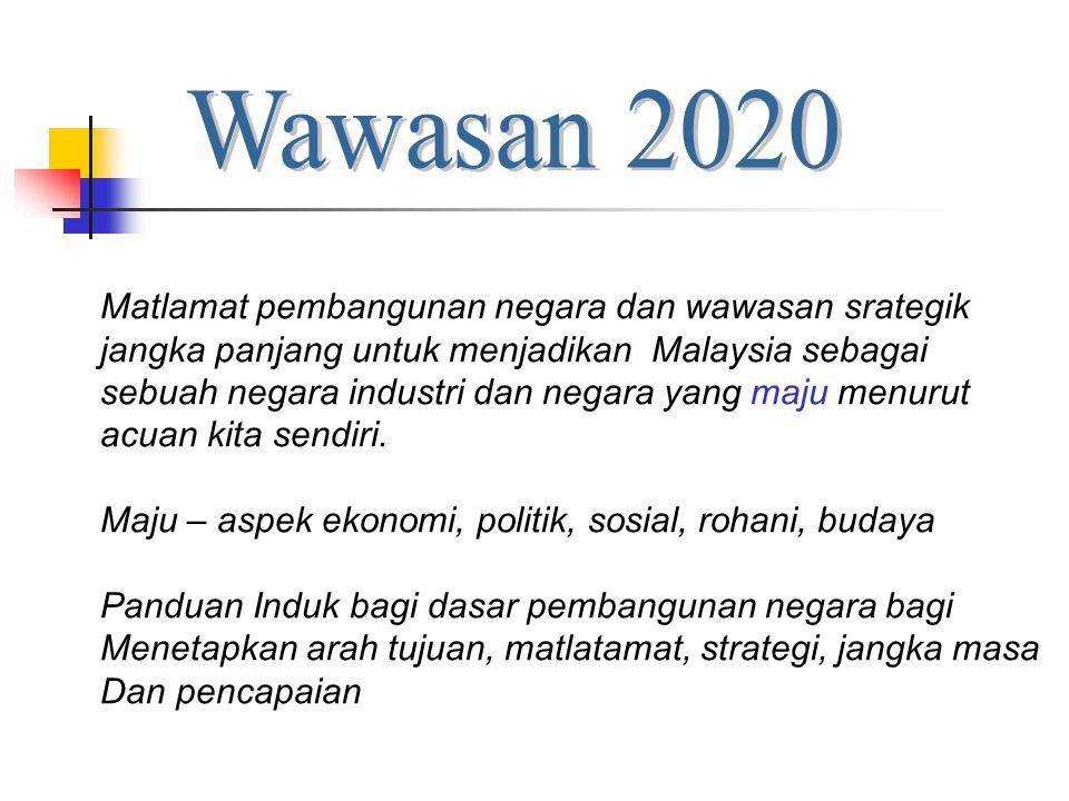 Wawasan 2020 Matlamat pembangunan negara dan wawasan srategik