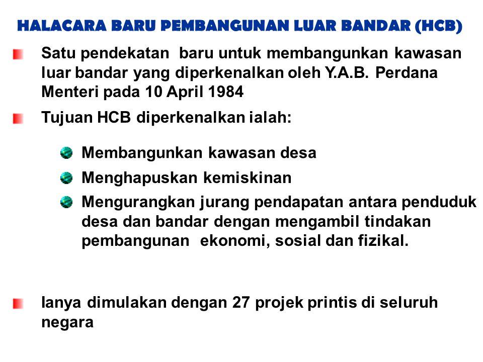 HALACARA BARU PEMBANGUNAN LUAR BANDAR (HCB)