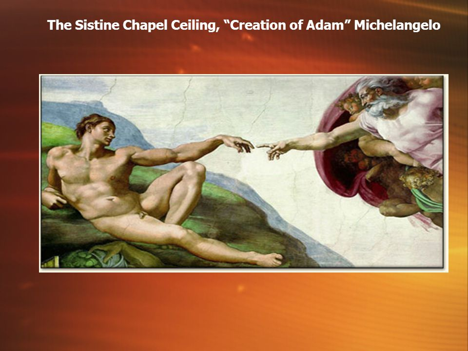 The Sistine Chapel Ceiling, Creation of Adam Michelangelo