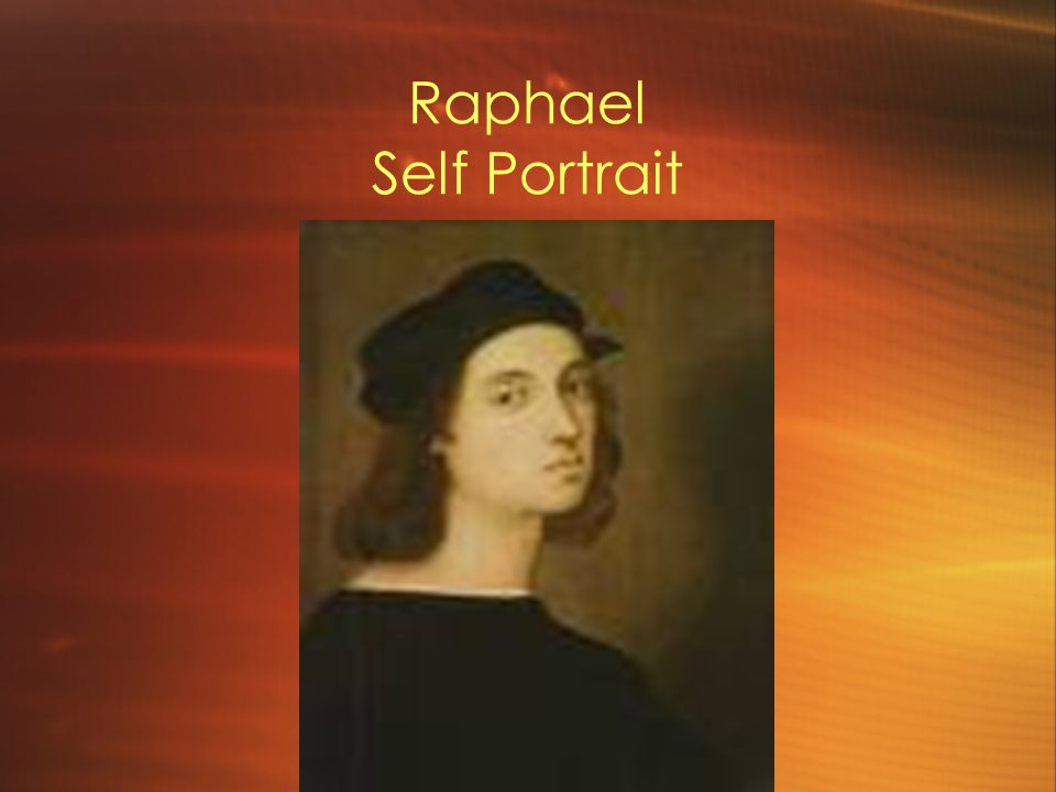 Raphael Self Portrait 1483 – 1520, painter and architect
