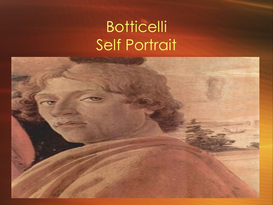 Botticelli Self Portrait