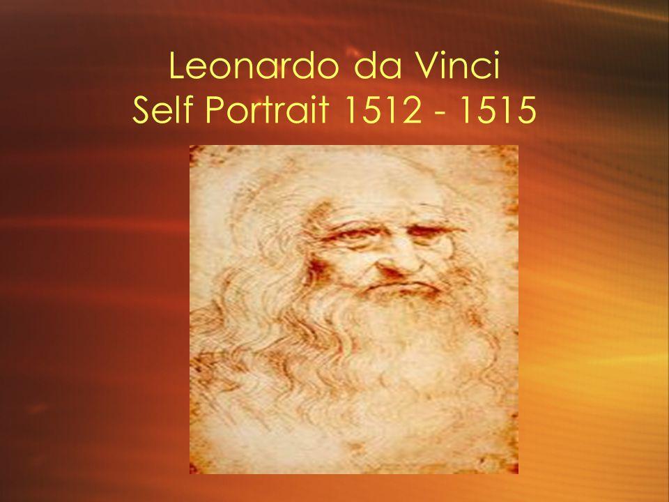 Leonardo da Vinci Self Portrait 1512 - 1515