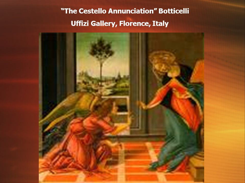 The Cestello Annunciation Botticelli Uffizi Gallery, Florence, Italy