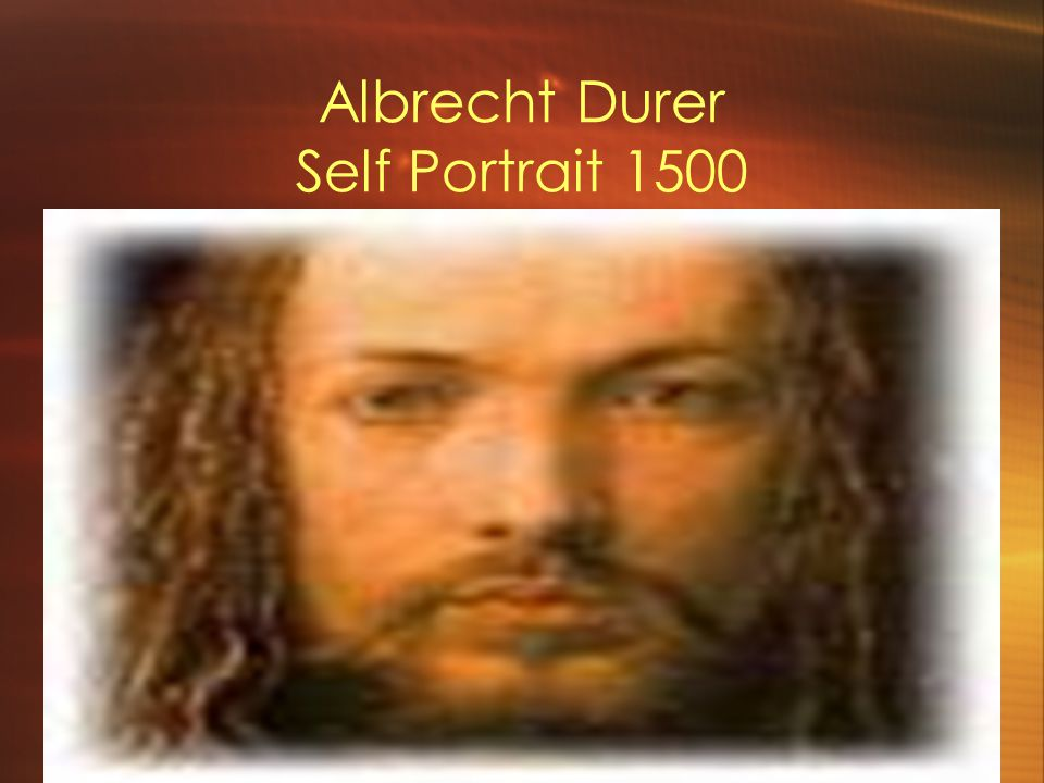 Albrecht Durer Self Portrait 1500