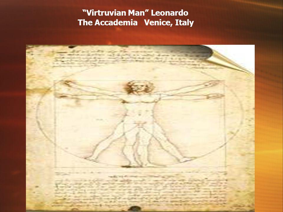 Virtruvian Man Leonardo The Accademia Venice, Italy