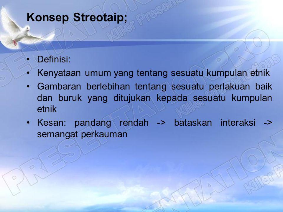 Konsep Streotaip; Definisi: