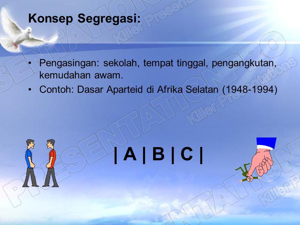 | A | B | C | Konsep Segregasi: