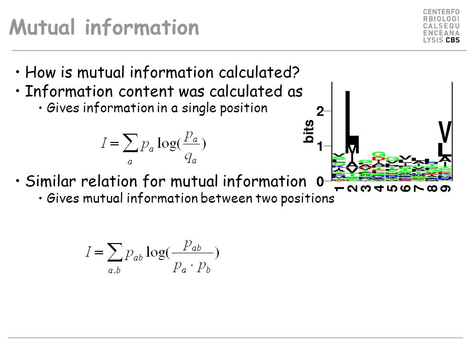 Mutual information How is mutual information calculated