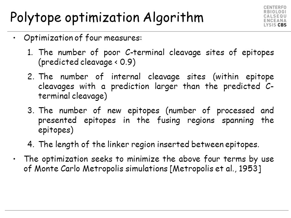 Polytope optimization Algorithm