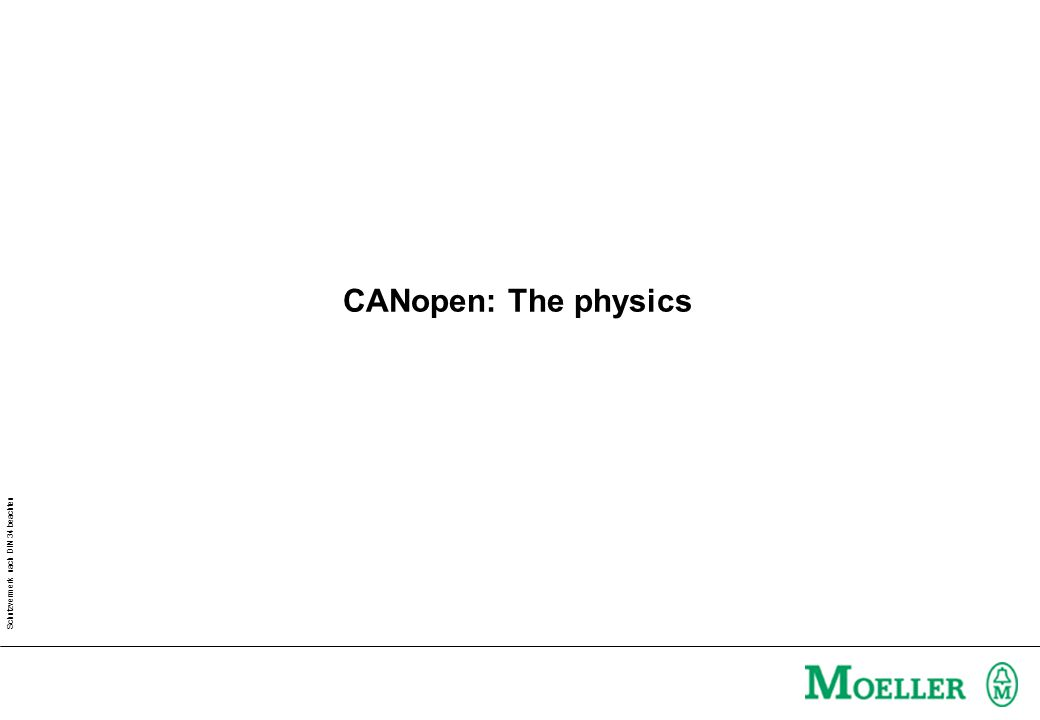 CANopen: The physics