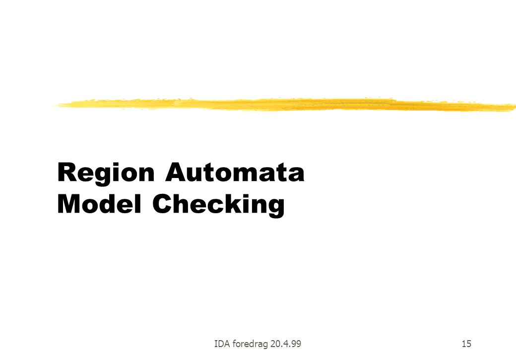 Region Automata Model Checking