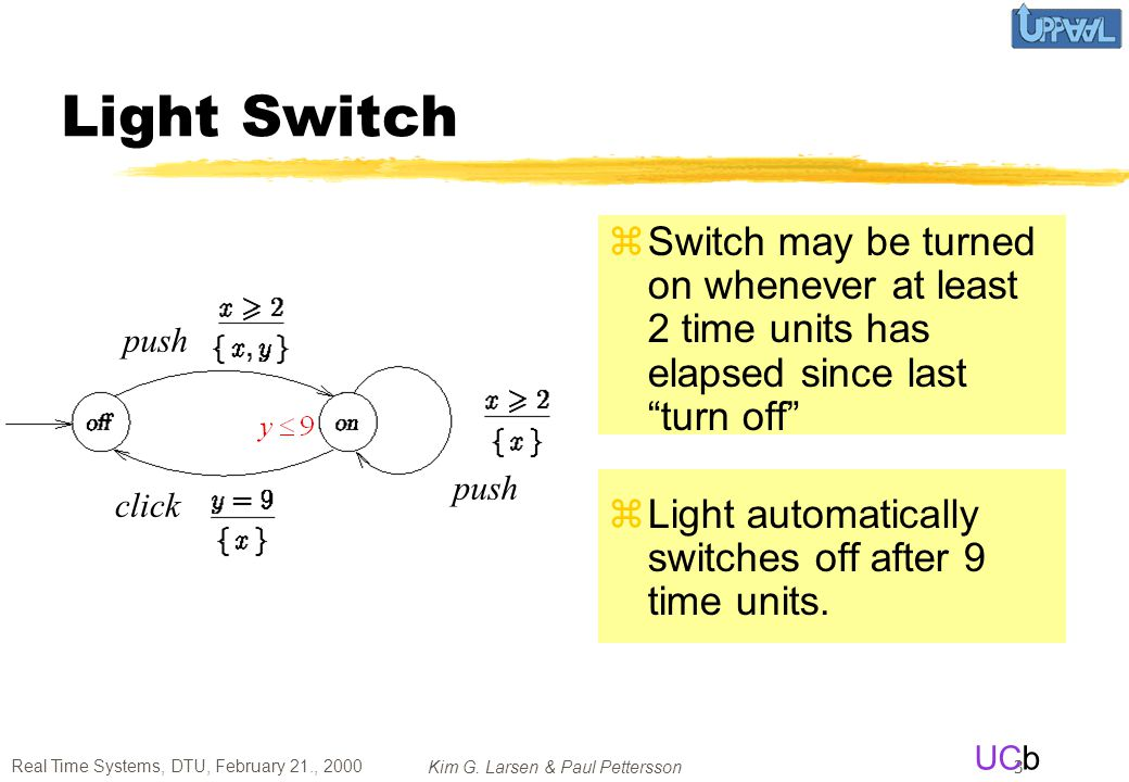 Light Switch Switch may be turned on whenever at least 2 time units has elapsed since last turn off