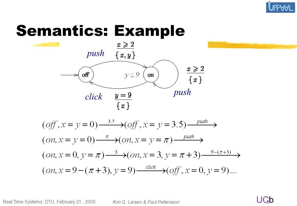 Semantics: Example push push click