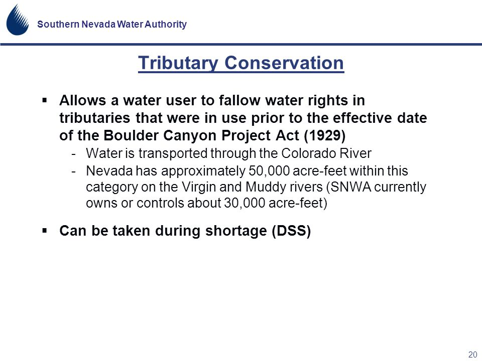 Tributary Conservation