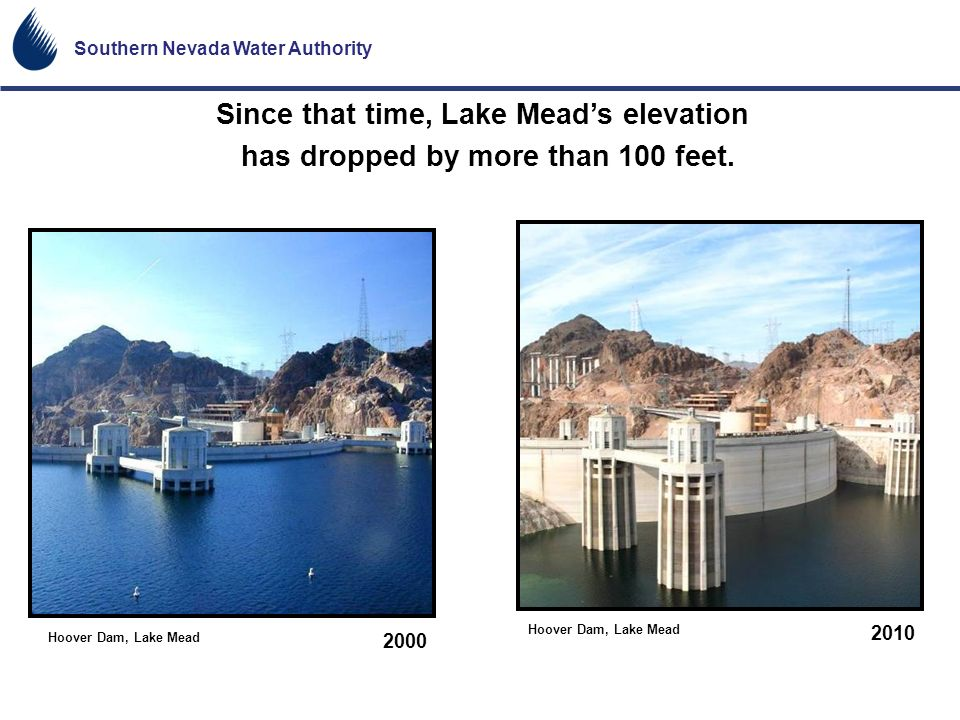 Since that time, Lake Mead's elevation
