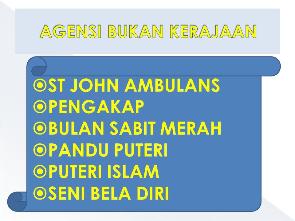 ST JOHN AMBULANS PENGAKAP BULAN SABIT MERAH PANDU PUTERI PUTERI ISLAM