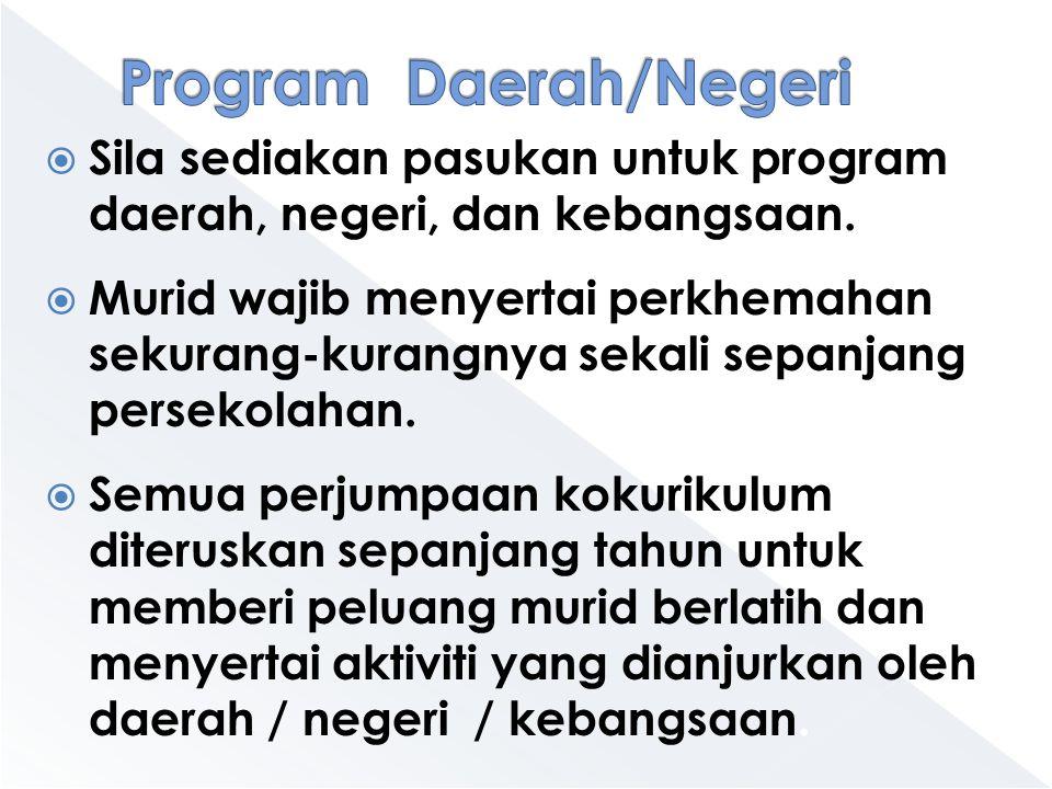 Program Daerah/Negeri