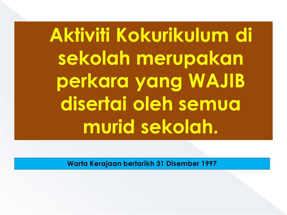 Warta Kerajaan bertarikh 31 Disember 1997
