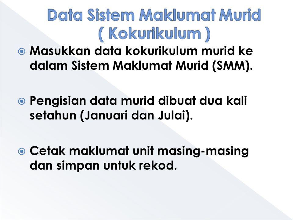 Data Sistem Maklumat Murid ( Kokurikulum )