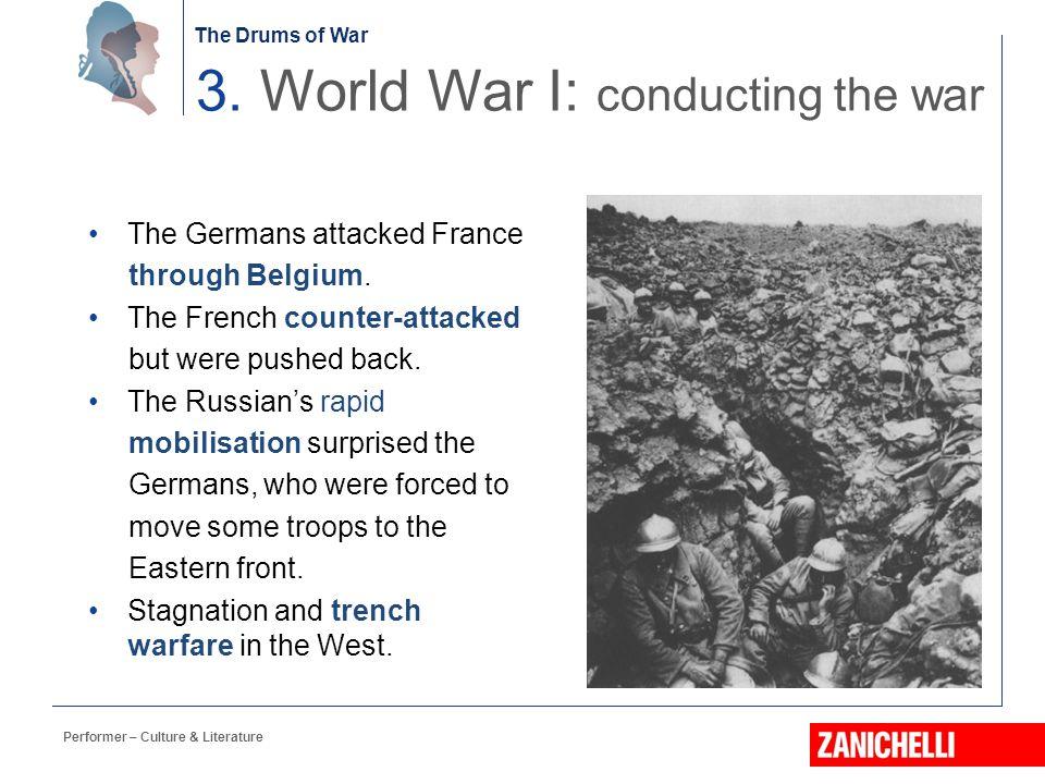 3. World War I: conducting the war