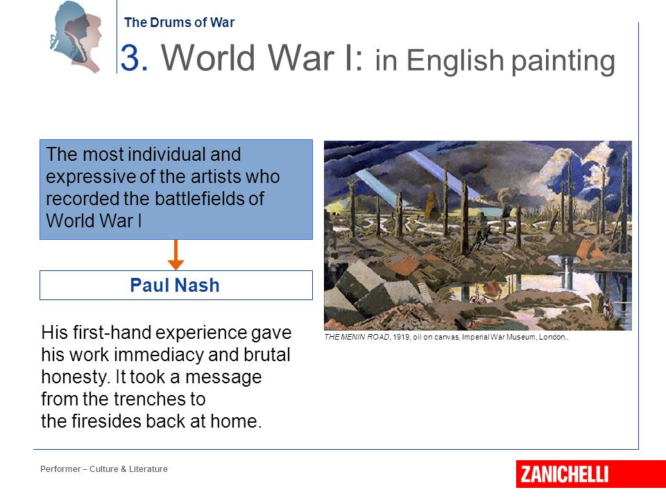 3. World War I: in English painting