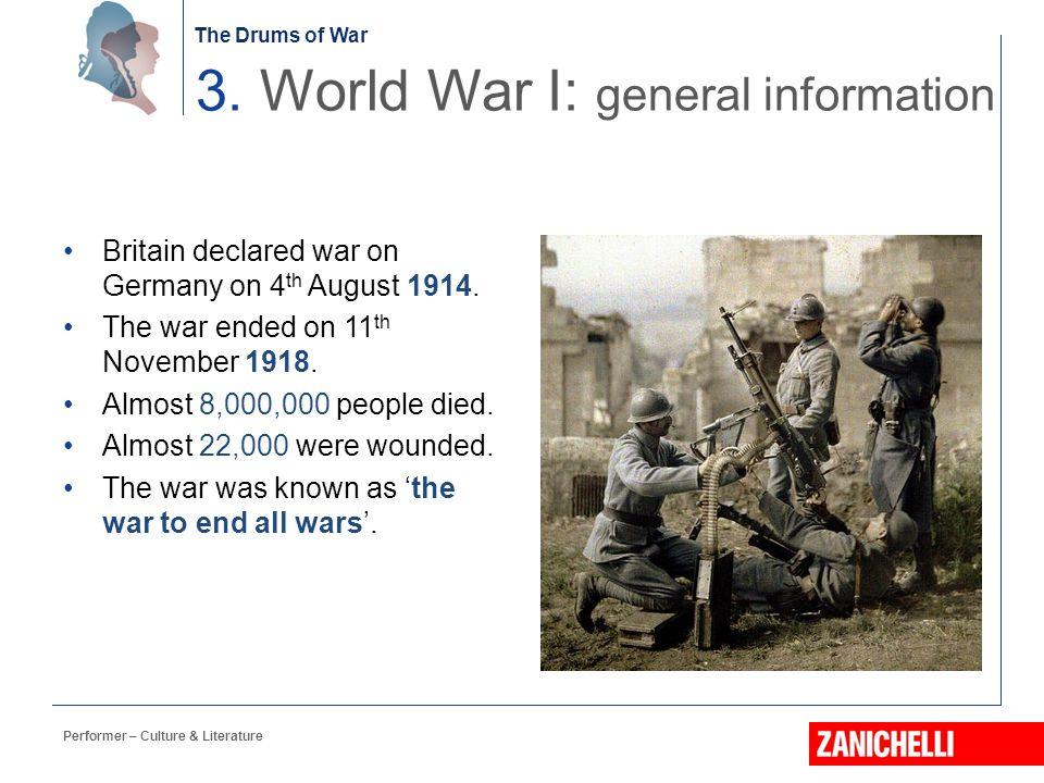 3. World War I: general information