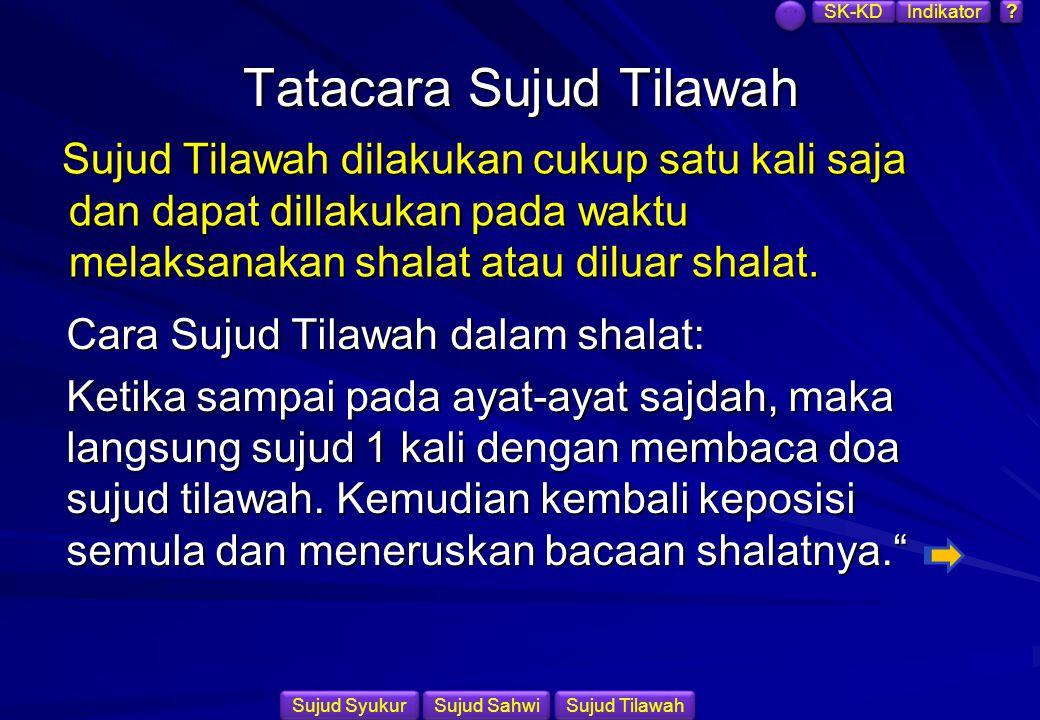 Tatacara Sujud Tilawah