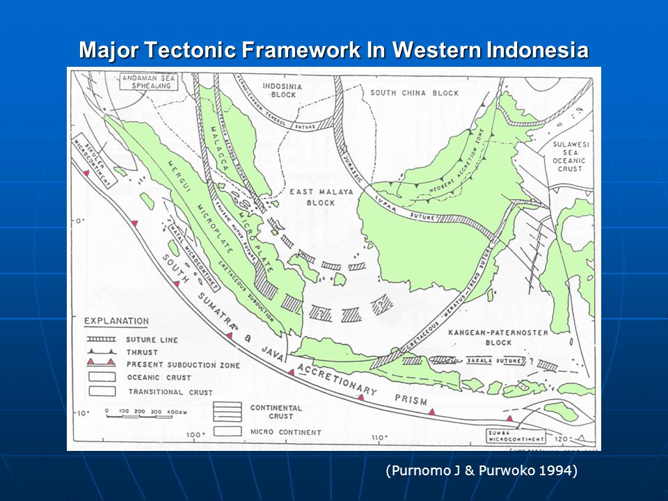 Major Tectonic Framework In Western Indonesia
