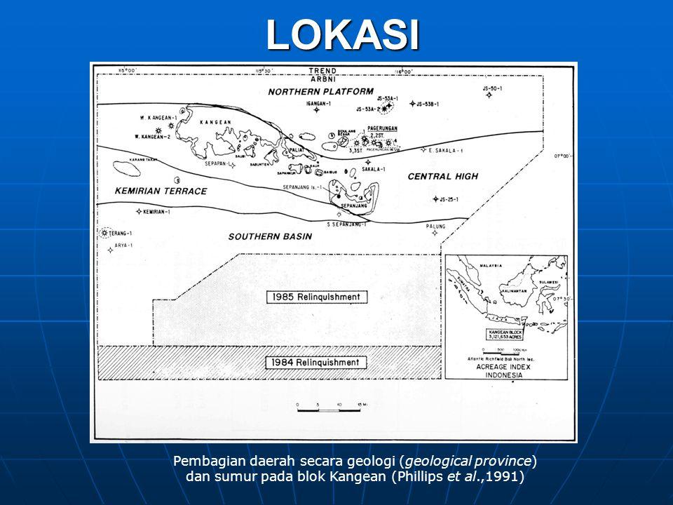 LOKASI Pembagian daerah secara geologi (geological province)