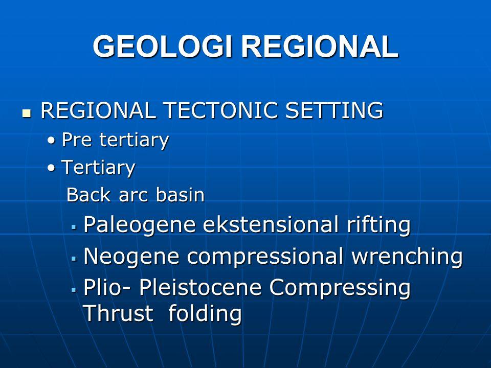 GEOLOGI REGIONAL REGIONAL TECTONIC SETTING
