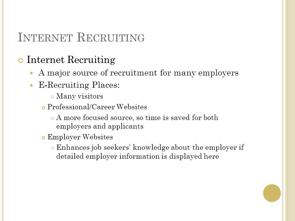 Internet Recruiting Internet Recruiting