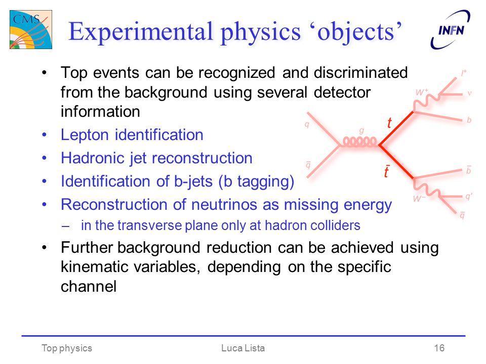Experimental physics 'objects'