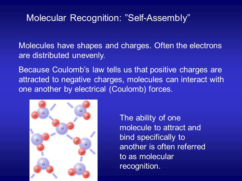 Molecular Recognition: Self-Assembly