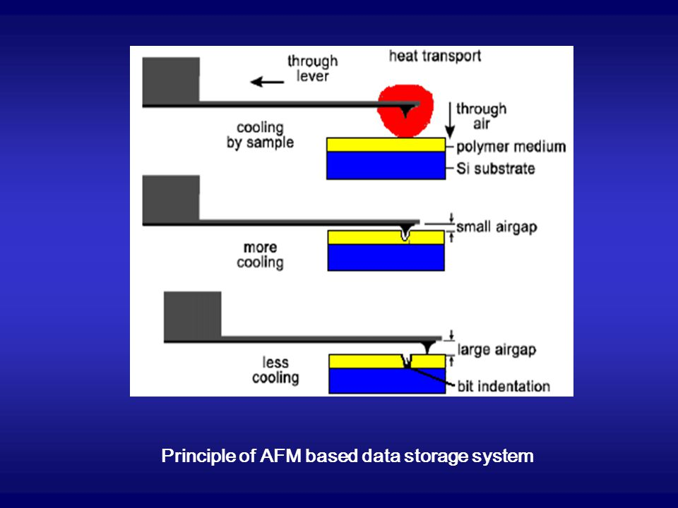 Principle of AFM based data storage system