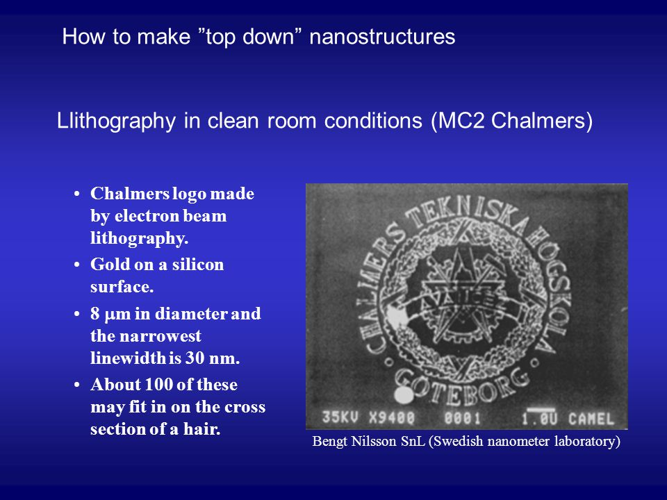 How to make top down nanostructures
