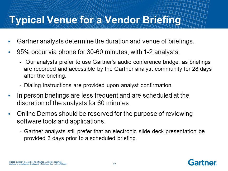 Typical Venue for a Vendor Briefing