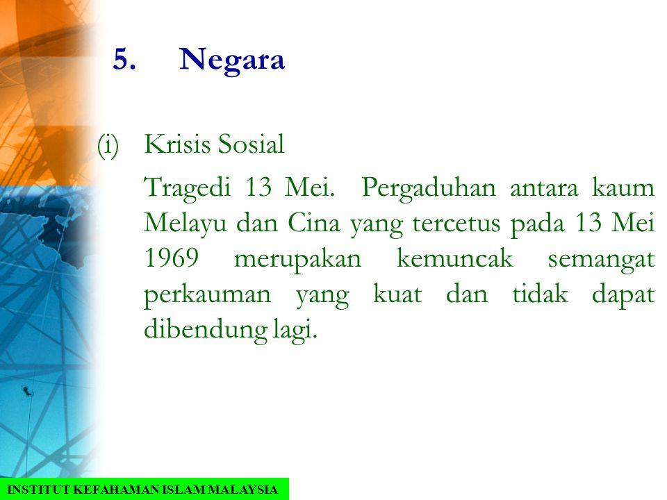 5. Negara Krisis Sosial.