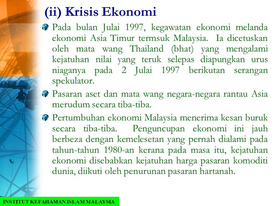 (ii) Krisis Ekonomi