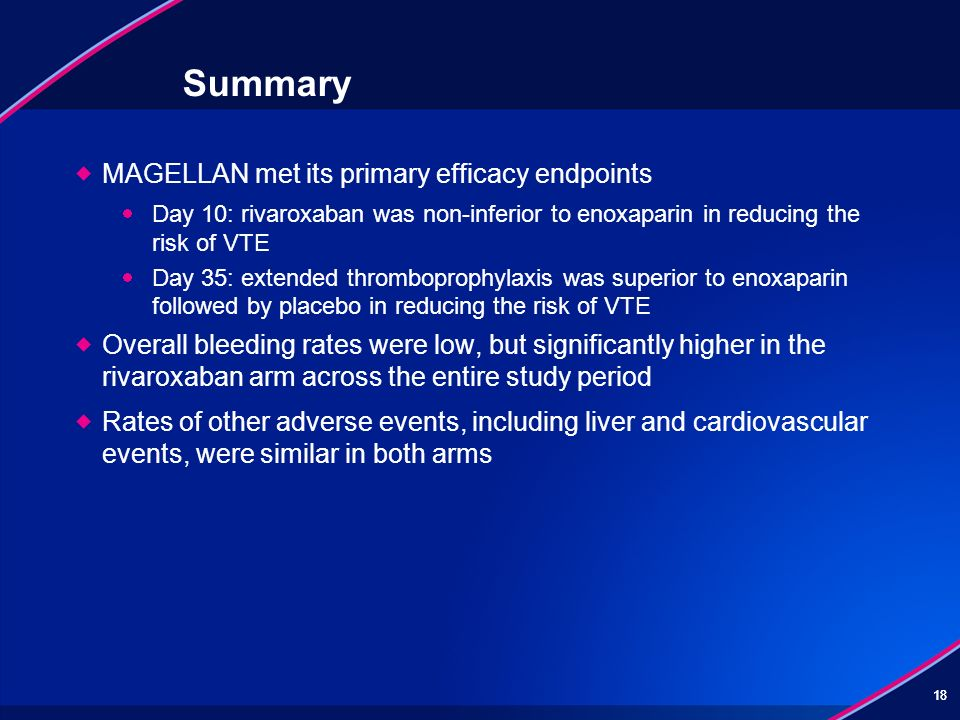Summary MAGELLAN met its primary efficacy endpoints