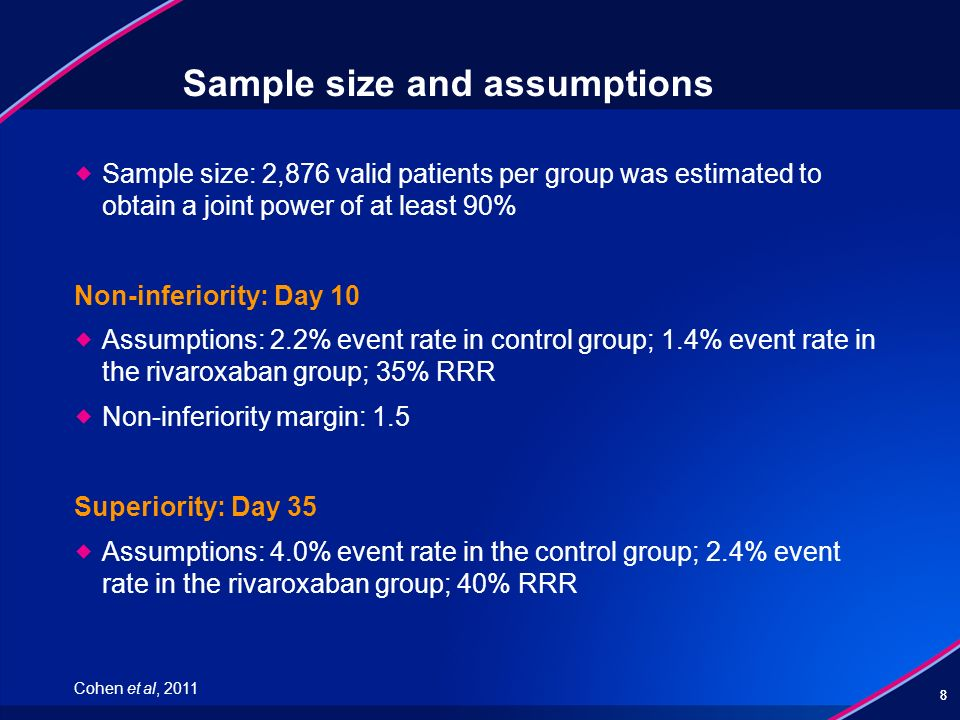 Sample size and assumptions