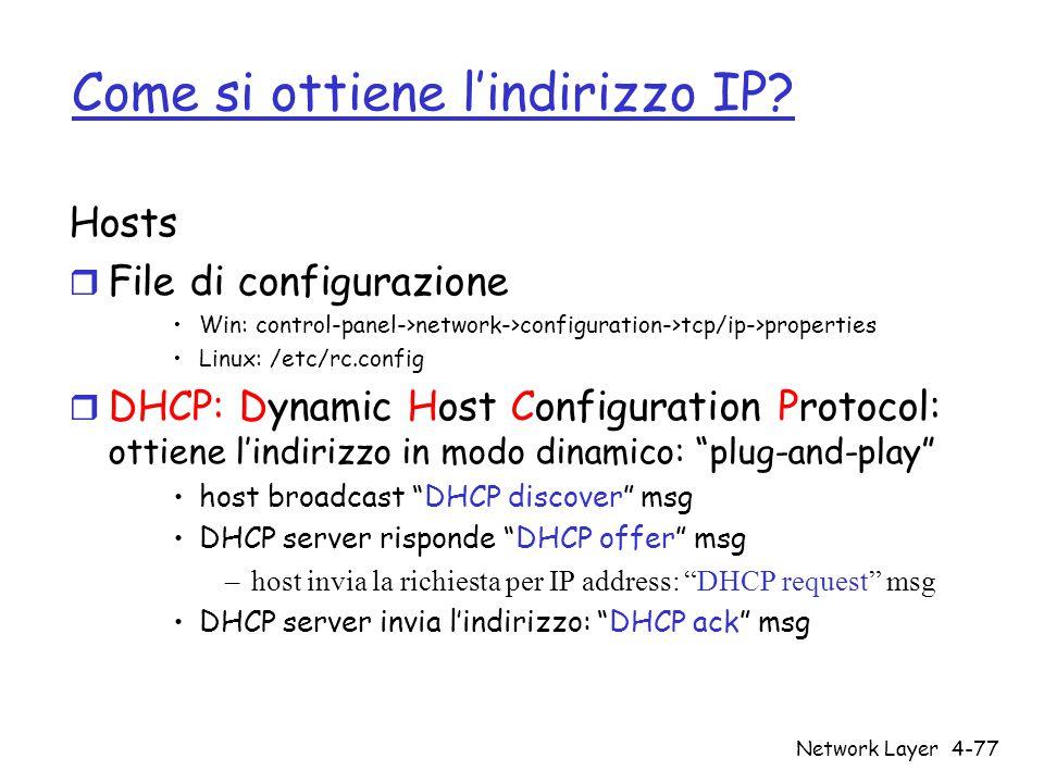 Come si ottiene l'indirizzo IP