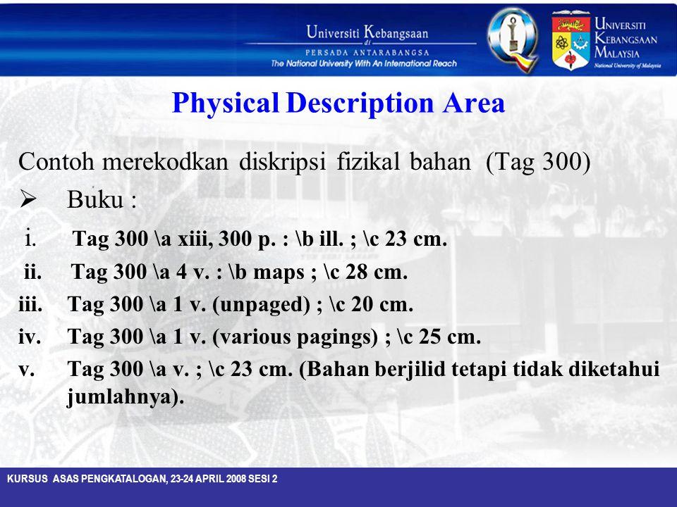 Physical Description Area